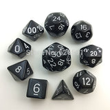 Bag of Ten Solid Acrylic Polyhedral Dice (Includes D16, D24 & D30)