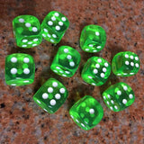 Bundle of 70 Translucent Acrylic Six Sided Dice