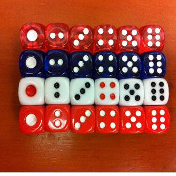 Bundle of 100 Six Sided 12mm Dice