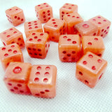 Stone Six Sided Dice (D6) in Sets of Nine