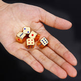 Ten Solid Metal Six Sided Dice in Silver or Gold