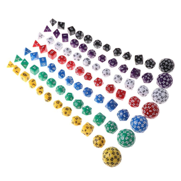 Twelve Opaque Acrylic Polyhedral Dice (Includes D16, D24, D30 & D60)