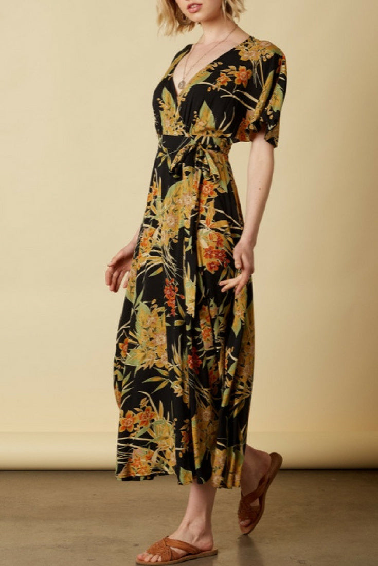 Rosemary Floral Wrap Dress