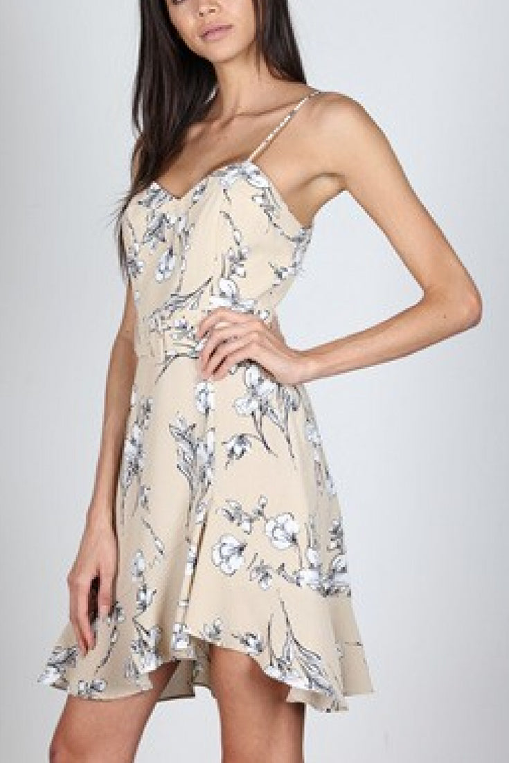 Felicity Floral Ruffle Dress