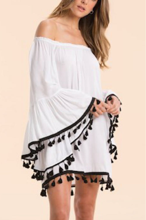 Off the Shoulder Coverup Dress