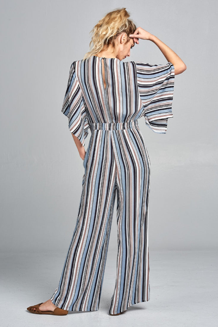 Mod Striped Jumpsuit