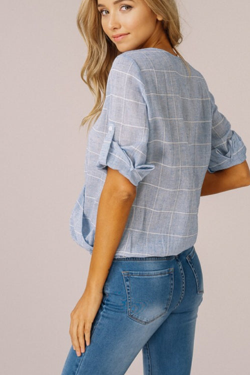 Criss-Cross Drape Top