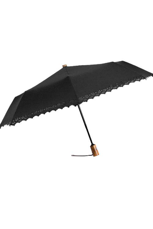 Eyelet Trim Compact Umbrella