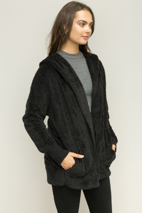 Black Teddy Bear Cardigan