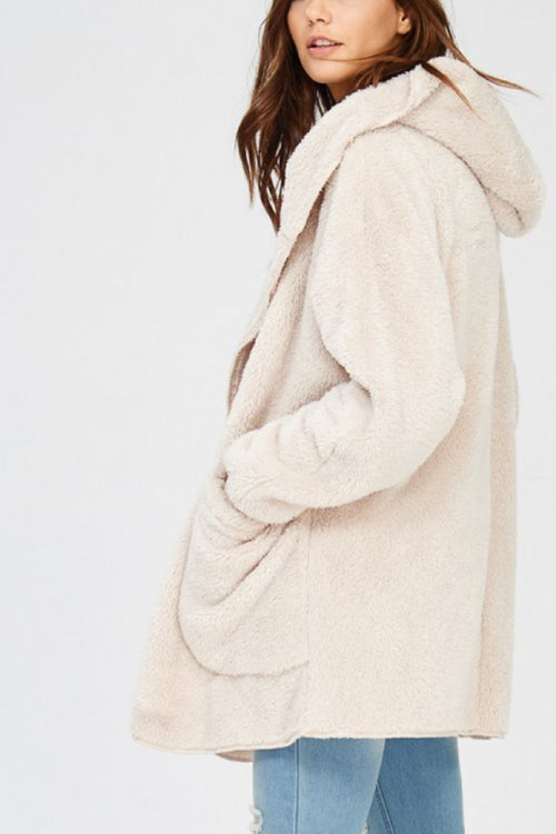Teddy Bear Coat - Taupe