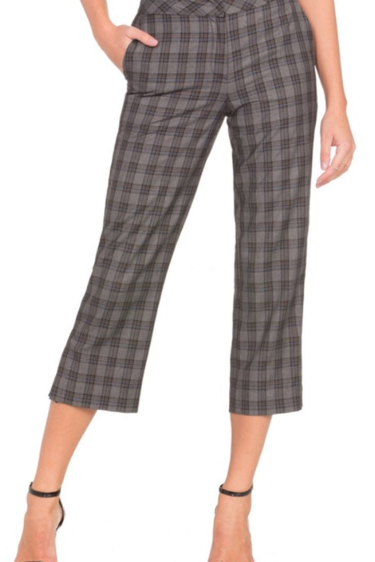 Mad for Plaid Cropped Pants