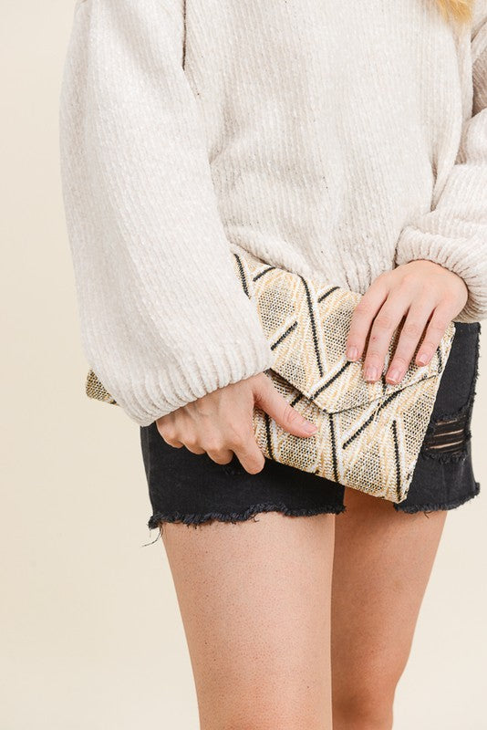 Woven Patterned Clutch