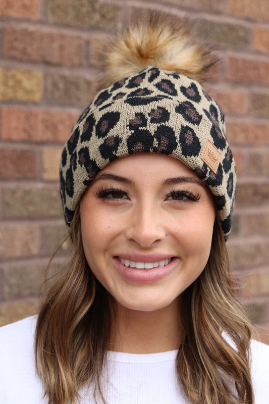 So Cute Leopard Knit Hat