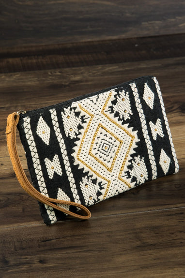 Vivid Ethnic Pattern Clutch