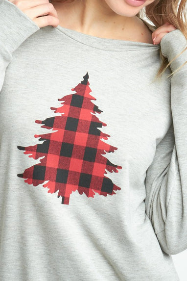 Buffalo Plaid Tree Top
