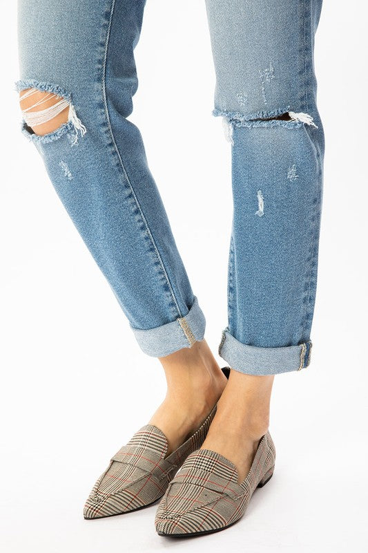 Rochelle Button Fly High Rise Mom Jean