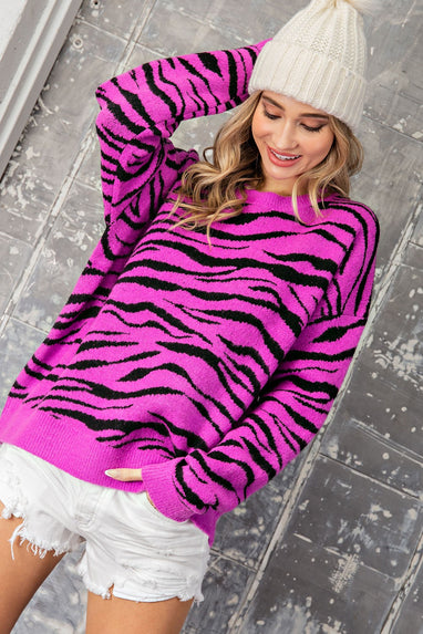 Live In Harmony Animal Print Sweater