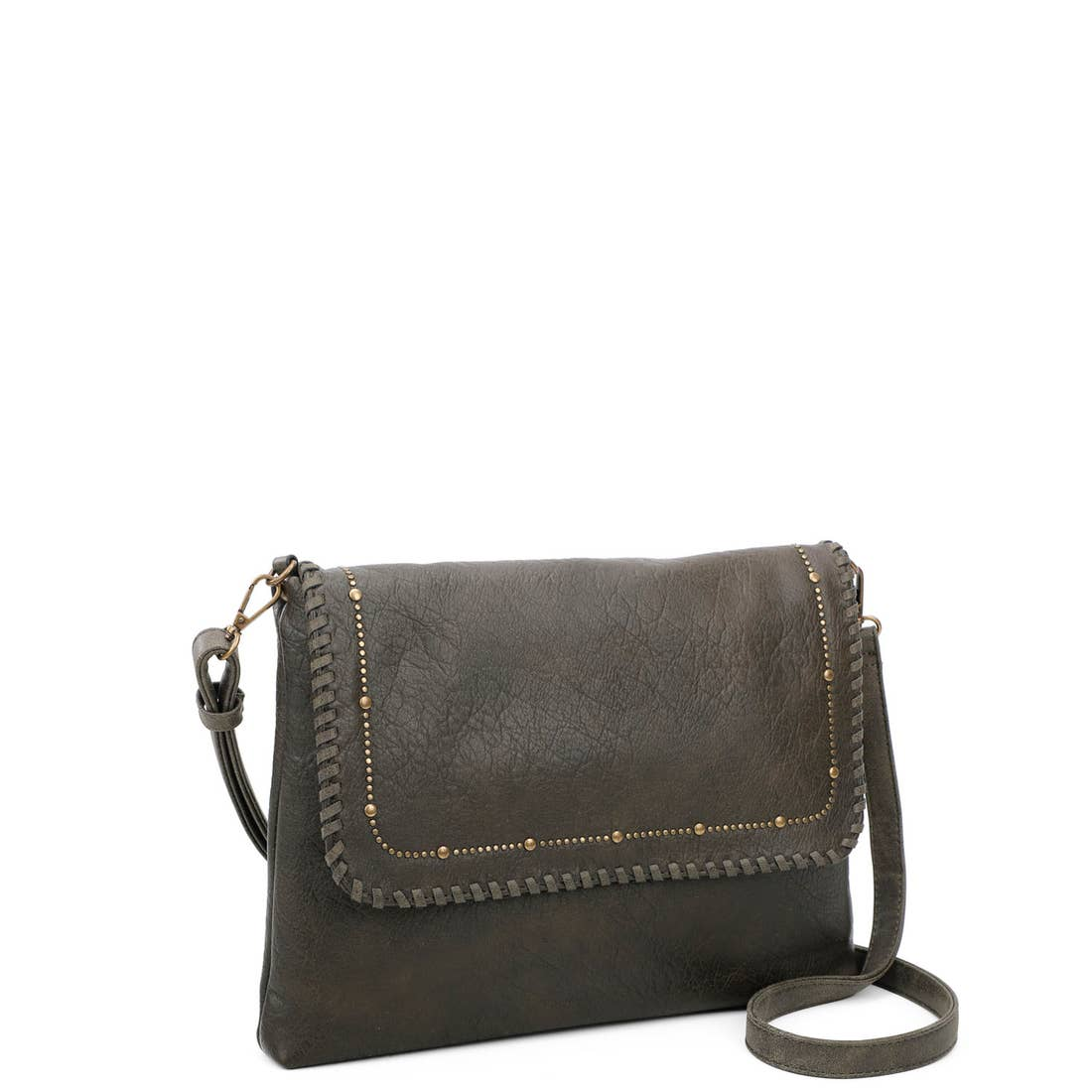 Studded Flap Crossbody