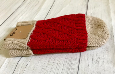 Red Two-Toned Mittens
