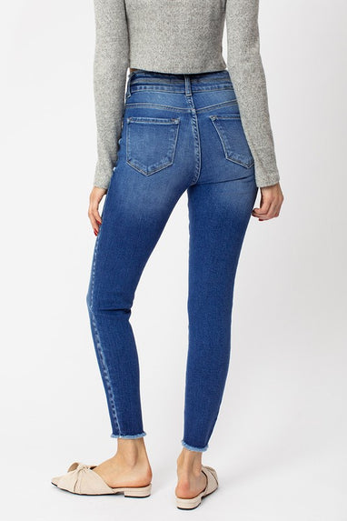 Gemma High Rise Double Button Detail Ankle Skinny