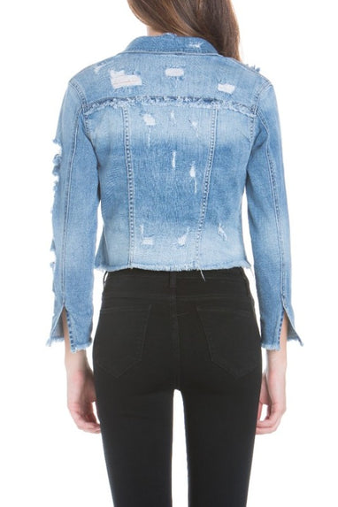 Distressed Jean Jacket