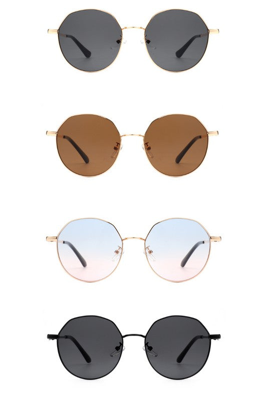 Retro Circle Geometric Round Fashion Sunglasses