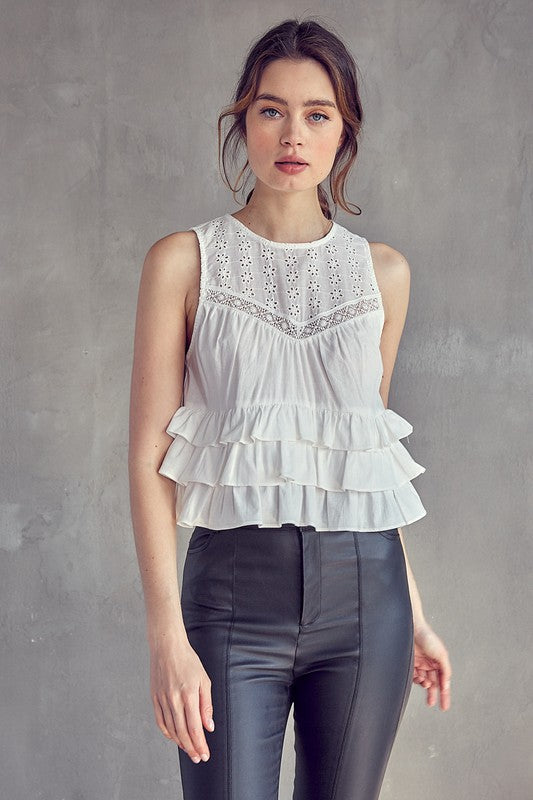 Rock-n-Roll Eyelet Top