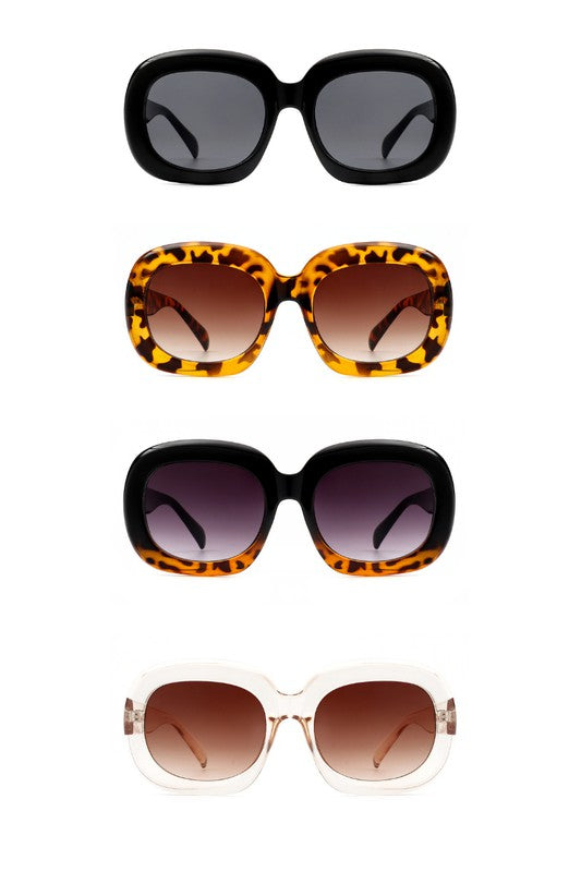 Round Oversize Oval Retro Fashion Sunglasses