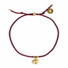 Fortune Cookie Bracelet in Burgundy/Gold