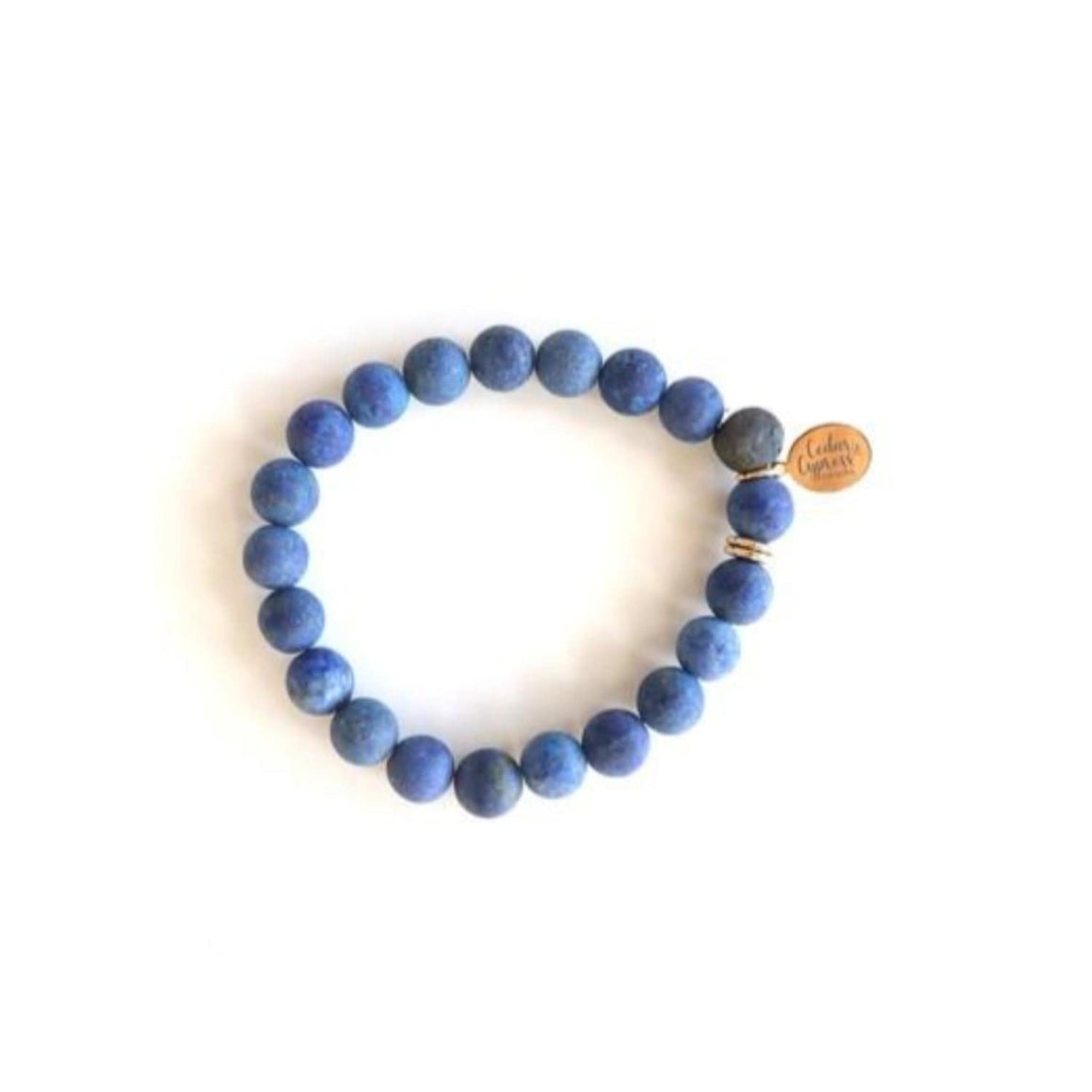 One Little Bead Bracelet in Blue