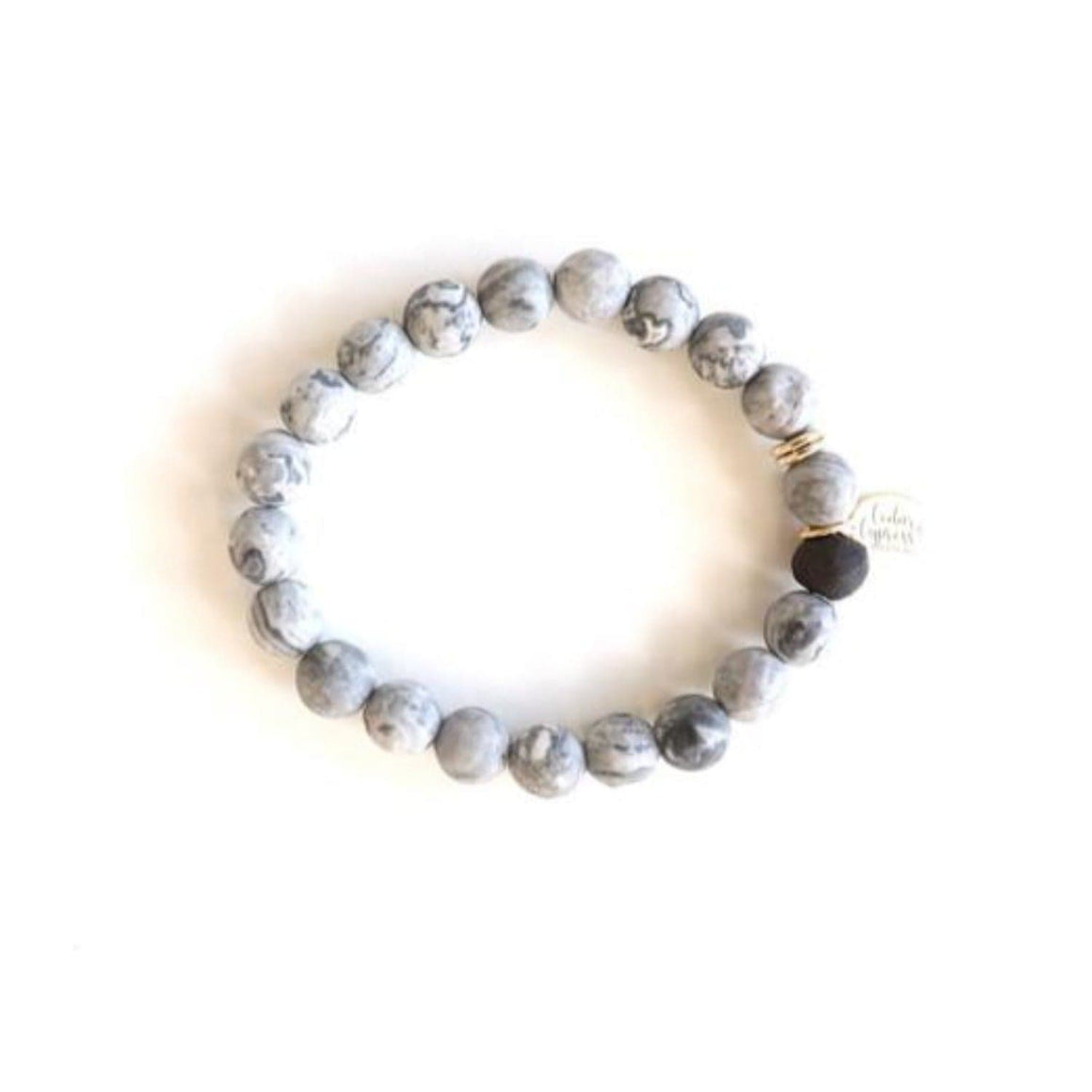 One Little Bead Bracelet in Gray