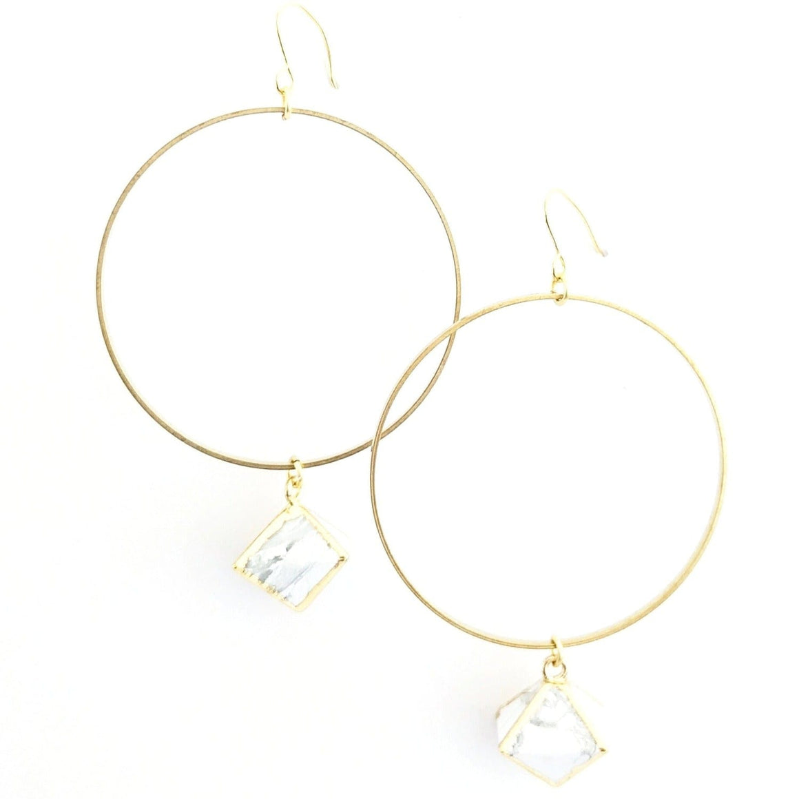 Easley Earrings in White