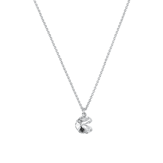 Mini Fortune Cookie Necklace in Silver