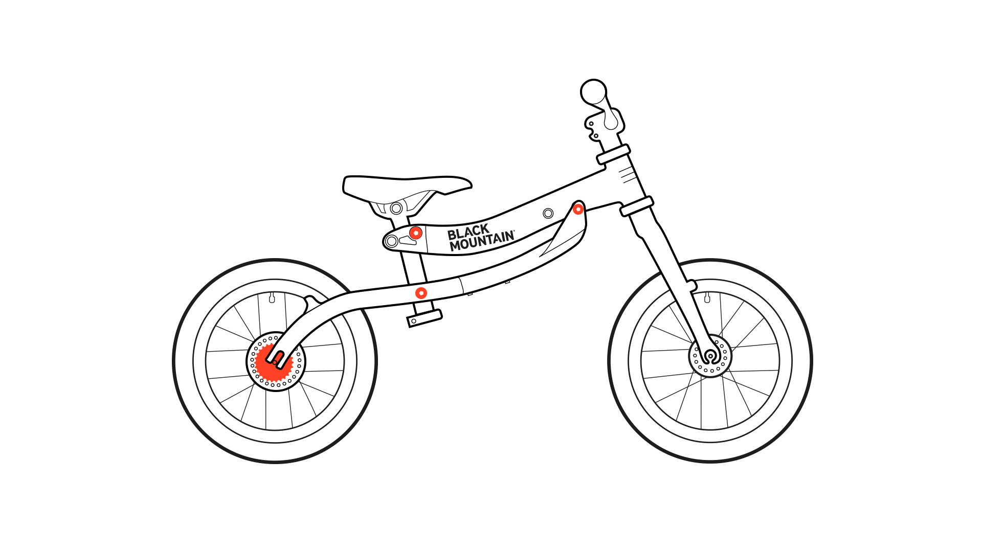 Balance bike diagram