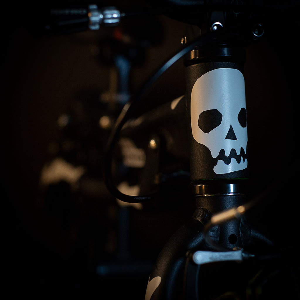 Black Mountain bikes Halloween skull