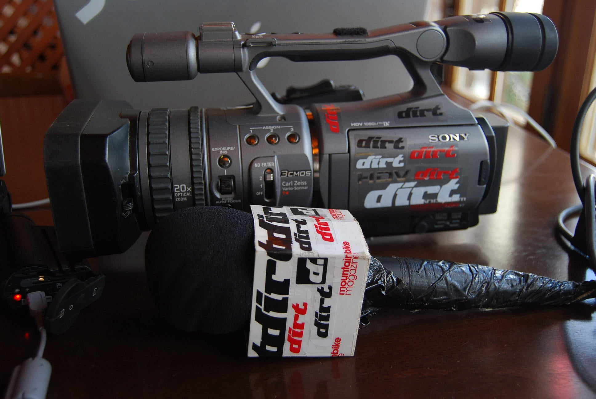 Original DirtTV camera and microphone