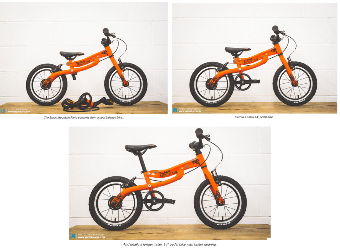 We love this concept, not only does the bike develop with your child, but it also reduces waste and energy costs when compared to buying three bikes independently.