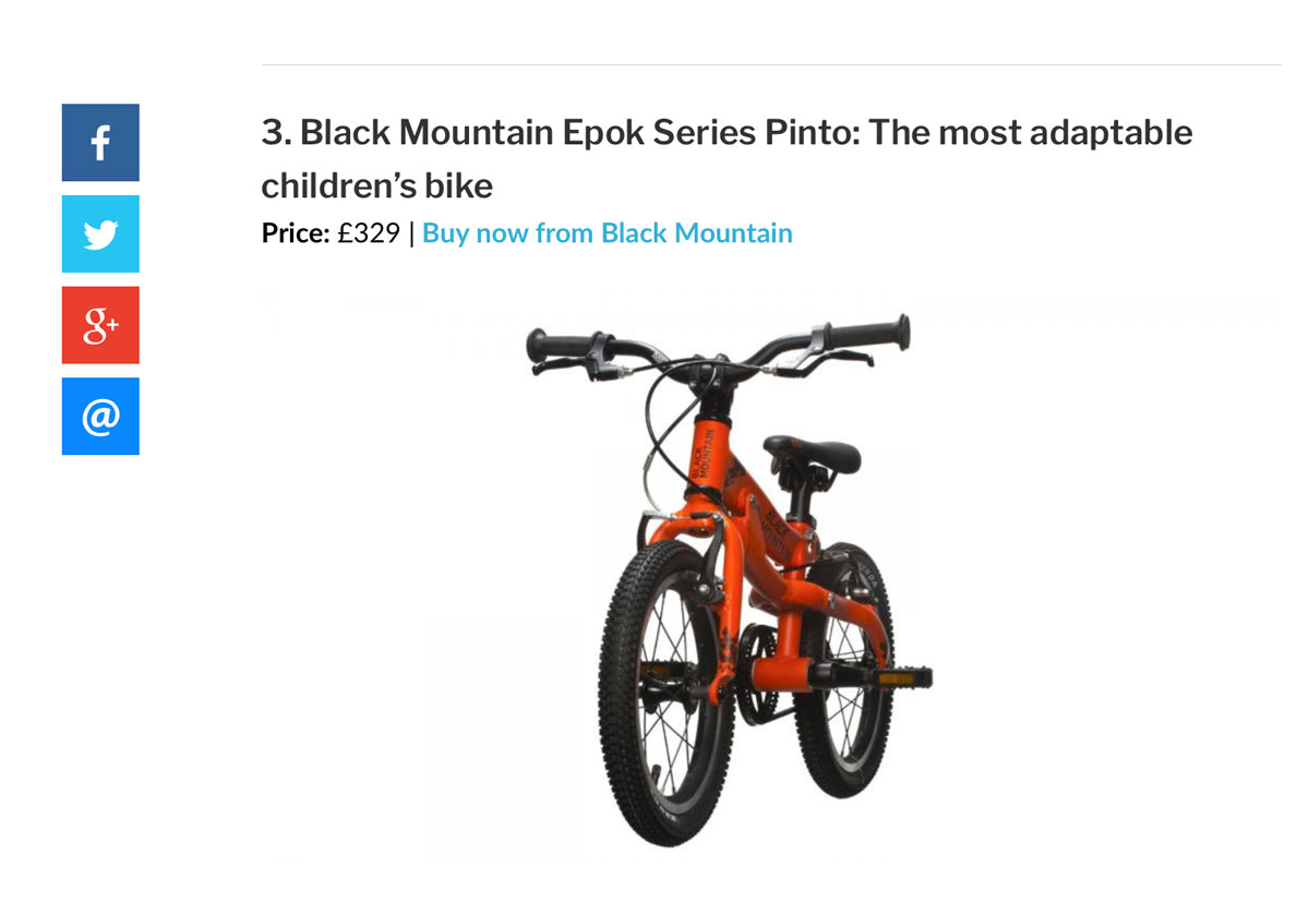 Best Children's Bikes Expert Review Black Mountain Pinto Lightweight