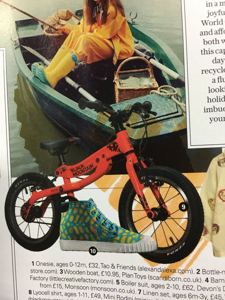Black Mountain lightweight kids bikes in the Sunday Telegraph