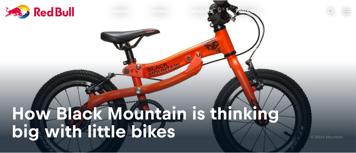 lightweight kids bikes and balance bikes by black mountain on redbull