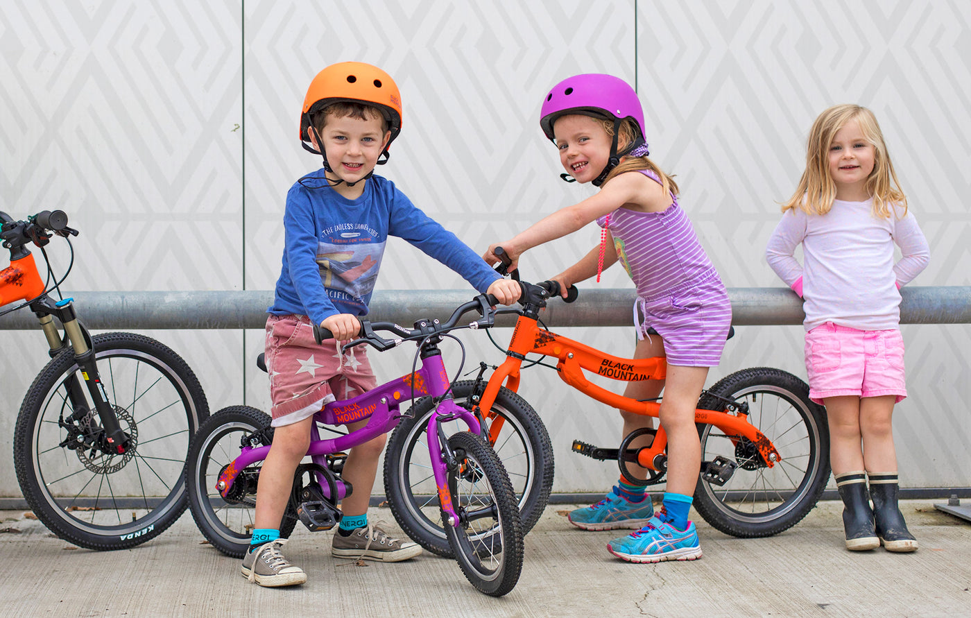 Lightweight kids' bikes by Black Mountain Bikes