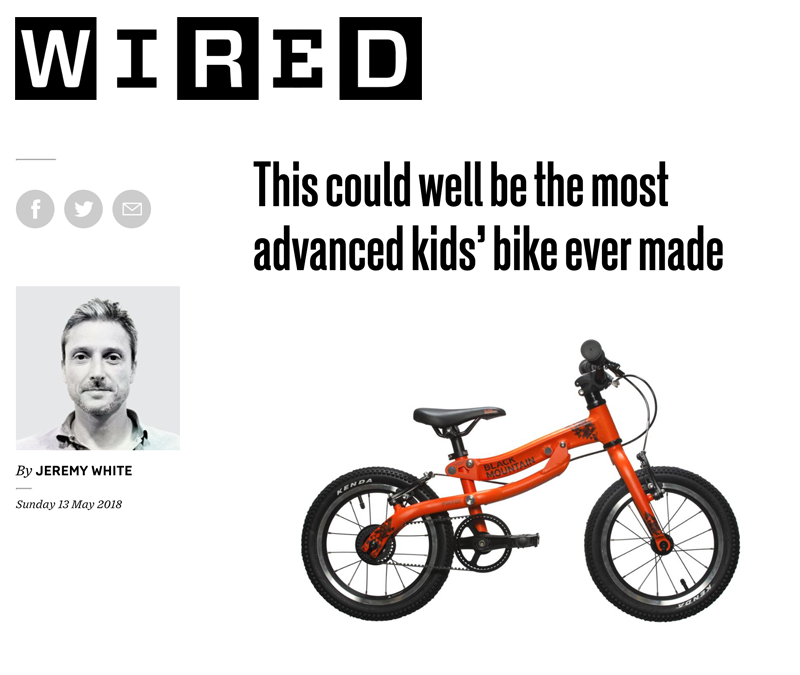 Wired Black Mountain Bikes lightweight kids' bike that grows with your child. Islabikes, Hoy Bikes, Frog Bikes