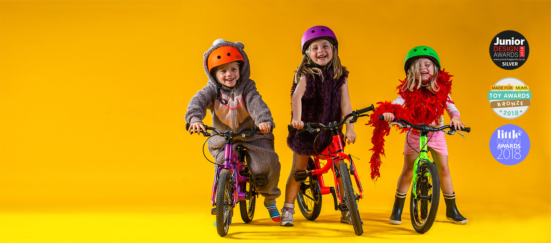 Lightweight aluminium children's bicycles and balance bikes