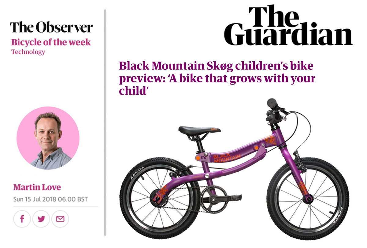 The Guardian, Martin Love, Bicycle of the week. Black Mountain Skog - lightweight kids bike that grows with your child
