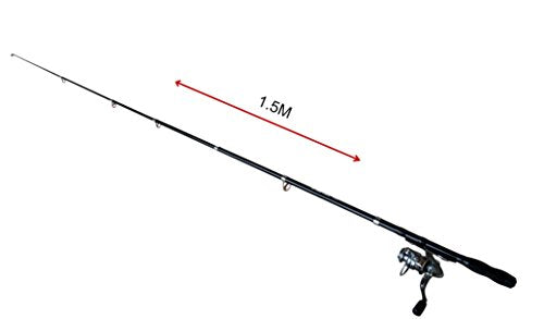 Go Back Trail - Collapsible Fishing Rod & Reel With Small Tackle Box
