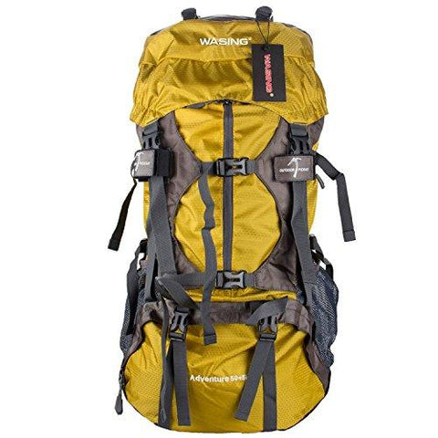 WASING - 55L Internal Frame Backpack With Rain Cover