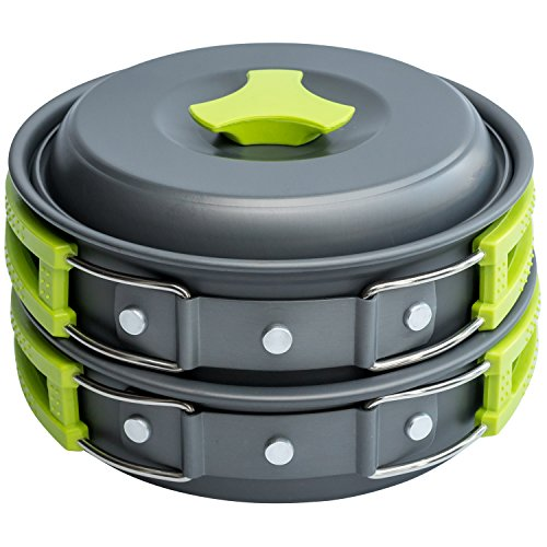 MalloMe - 10 Piece Camping Cookware Kit