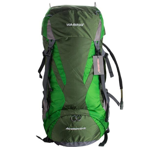 WASING - 60L+5L Internal Frame Backpack With Rain Cover