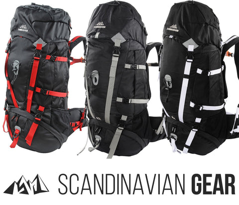 Scandinavian Gear - 65L Multi-Day Backpack With Rain Cover