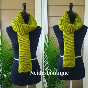 Knitted Scarf, Long knitted scarf